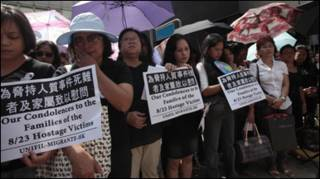 Người Philippines tại Hong Kong tưởng niệm nạn nhân vụ con tin