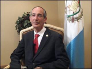 El presidente de Guatemala Álvaro Colom