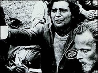 Dos de los supervivientes de la tragedia de los Andes cuando los encontraron