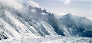 Glaciares en los Himalayas