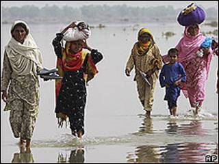 Mujeres desplazadas, Pakistán.