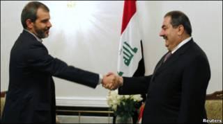 حسن دانایی فر، سفیر جدید ایران در عراق و هوشیار زیباری، وزیر خارجه عراق