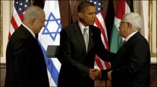دیدار اوباما، عباس و نتانیاهو- سپتامبر 2009
