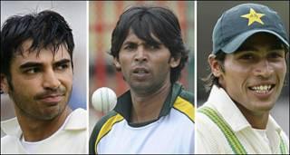 पाकिस्तान के तीन क्रिकेट खिलाड़ी बट्ट, आसिफ़ और आमिर