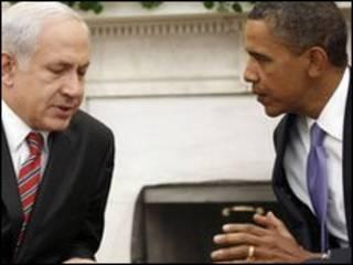 اوباما در دیدار با نتانیاهو