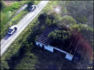 Lugar en el que se encontraron los cadáveres de 72 emigrantes asesinados.