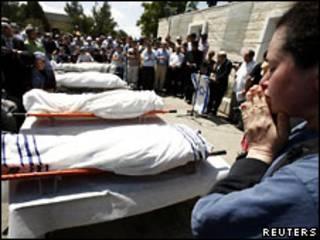 Похороны израильтян, погибших на Западном берегу