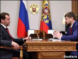 Дмитрий Медведев и Рамзан Кадыров