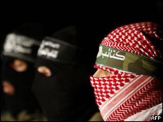 Боевики ХАМАС на пресс-конференции