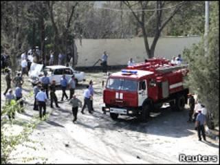 محل حادثه در خجند