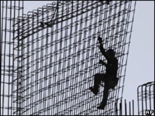 Trabalhador da construção civil em Miami