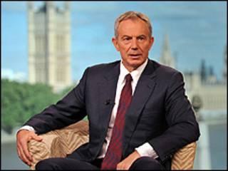 Tony Blair em entrevista à BBC