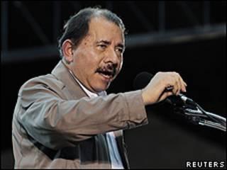 Daniel Ortega, el jueves, durante un discurso en Managua.