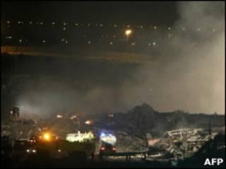 Место авиакатастрофы в Дубаи