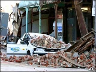 خسارات زلزله در شهر کرایستچرچ نیوزیلند