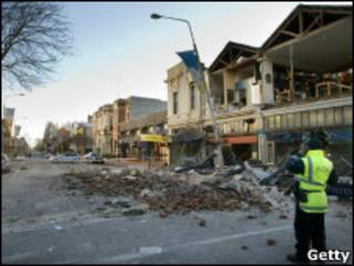 Destroços em Christchurch