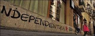 Pinta a favor de la independencia del País Vasco