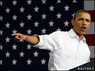 O presidente dos Estados Unidos, Barack Obama, faz discurso no Dia do Trabalho americano, em Wisconsin (Reuters)