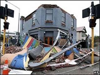Efectos del sismo en Nueva Zelanda.