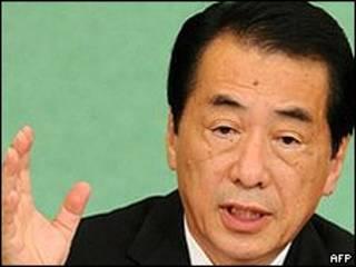 O primeiro-ministro japonês Naoto Kan (arquivo)