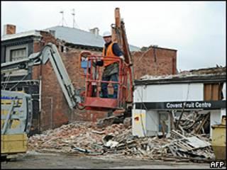 Разрушения после сентябрьского землетрясения