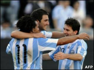 فرحة لاعبي الأرجنتين