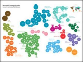 Карта мировой благотворительности