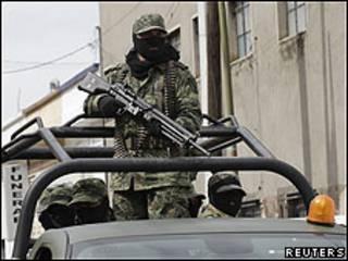 Soldados del ejército mexicano.