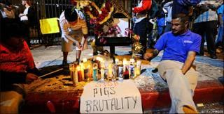 Protestas por la muerte de Manuel Jamines