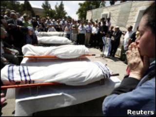 Похороны еврейских поселенцев