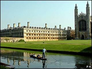 Vista de la Universidad de Cambridge