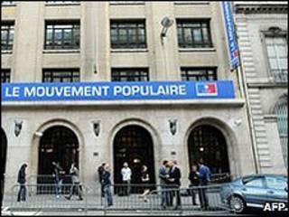 Sede del partido del presidente Nicolas Sarkozy.