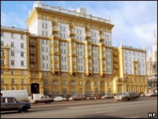 Старое здание американского посольства в России