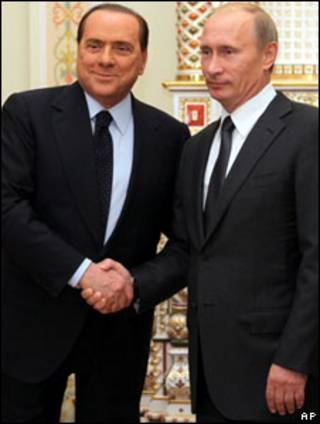 بوتين وبرلسكوني