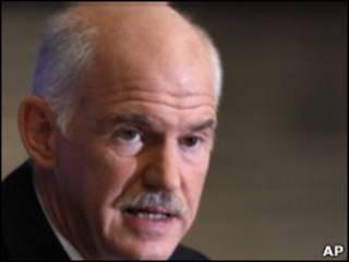 O premiê Papandreou