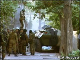 Операция против боевиков в Махачкале