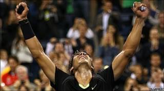 Rafael Nadal celebra su victoria en el Abierto de tenis de Estados Unidos
