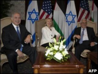 Netanyahu, Hillary Clinton e Abbas