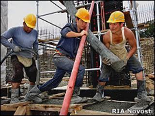 Китайские рабочие на острове Русском