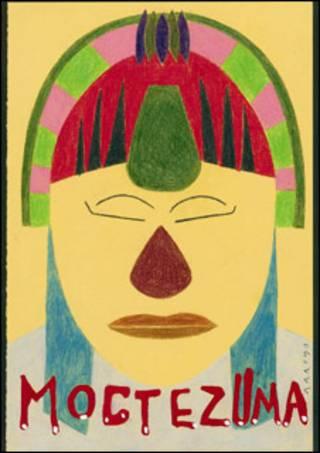 Ilustración para la ópera Montezuma, de Eduardo Arroyo