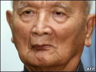 Nuon Chea, um dos acusados por genocídio no Camboja
