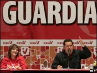 Chávez nomeia as 'Guardiãs' da revolução/AFP