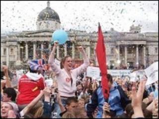 特拉法加广场庆祝特拉法加广场庆祝