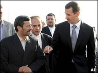 بشار الأسد يستقبل احمدي نجاد