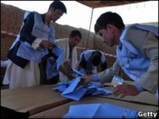 На афганском избирательном участке