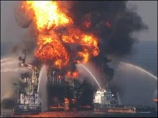 چاه نفتی بی پی در خلیج مکزیک