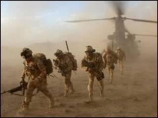 Британское войска в Сангине