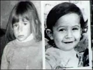 Fotos de hijas de desaparecidos durante el último régimen militar argentino.