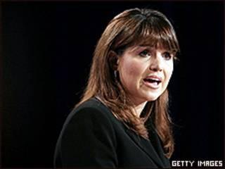 """La candidata al Senado de EE.UU., Christine O""""Donnell, en un acto la semana pasada"""