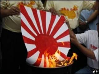 حرق علم اليابان إبان الحقبة الاستعمارية (هونج كونج 18/09/10)